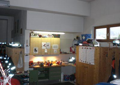 Werkstatt in der Fahrzeughalle EG